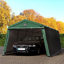 3,3x6,2m Tenda Garage, Box Auto PVC 500 verde scuro