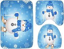 3 pezzi di copriwater antiscivolo natalizio e set