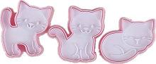 3 pezzi / set stampi per biscotti gatto carino fai