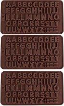 3 pezzi stampi per lettere al cioccolato, stampo