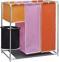3-Section Porta biancheria da lavanderia + cestino