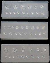 3 stampi in silicone 3D per nail art a forma di
