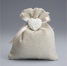 30 pezzi , Bomboniera sacchetto stoffa con