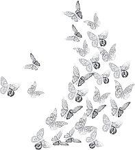 36 Pezzi 3D Farfalle Stickers Murali, Rimovibili