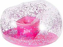 3C4G Pink Glitter Confetti Sedia Gonfiabile, PVC,
