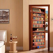 3D 77x200cm Libreria creativa Autoadesiva Adesivo