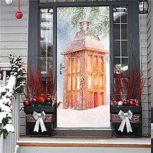 3D Adesivi Per Porte Stufa Di Natale Adesivo Per