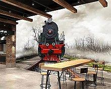 3D Auto Adesivo Flussi del treno Vintage Train