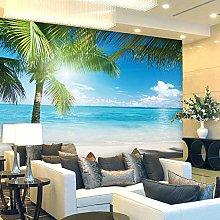3D Beach Coconut Grove Foto Carte da parati Murale