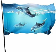 3D Beautiful Underwater World with Dolphins Fish