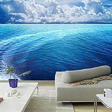 3D Blue Water Mural Wallpaper Onde Sea Surface