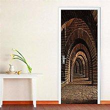 3D Carta Parati Porta 3D Tunnel Murale Carta Da
