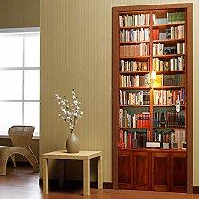 3D Carta Parati Porta Libreria Adesivo Per Porta