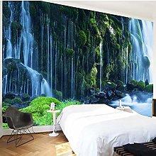 3D cinese cascata natura paesaggio murale carta da