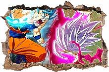 3D Dragon Ball Wall Stickers Adesivo Murale
