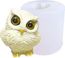 3D fai da te silicone gufo stampo candela stampo