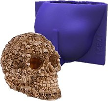 3D Halloween Skull Resina Stampo Stampo In