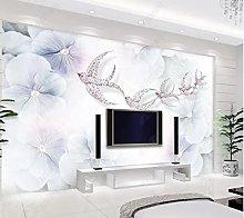 3D Light Luxury Lavender Flying Bird