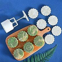 3D luna torta stampo 6 pezzi floreali trasparenti
