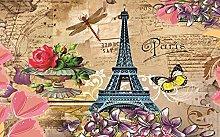 3D murale Bella Parigi, Francia Adesivo Carta da