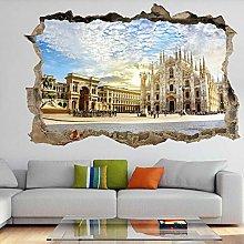 3D Murale Duomo di Milano 3D Wall Art Sticker