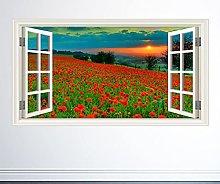 3D Murale fiore FIELD ADESIVO DA PARETE FINESTRA A