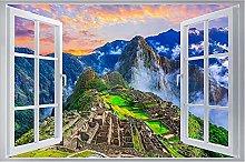 3D Murale paesaggio 3D effetto finestra