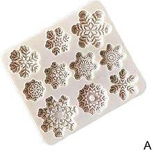 3D Natale silicone fondente stampo torta al
