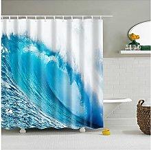 3D Ocean Scenery Sea Waves Tende da doccia Tessuto