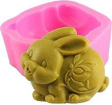 3D Pasqua coniglio animale sapone silicone stampo