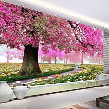 3D Romantic Pink Woods Murale Home Decor Carta da