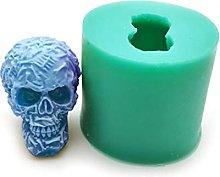 3D Skull Shape Cake Decorative Silicone Handmade