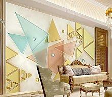 3D Stereo Golden Geometrico Triangolo Splicing