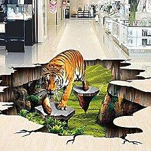 3D Stereo Realistico Tigre Pavimentazione Murale