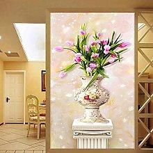 3D Stereo Relief Tulip Vase Adesivo Carta da