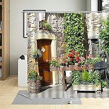 3D Tenda Doccia Cortile dei fiori Tende Doccia