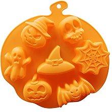 3D torta muffa halloween zucca in silicone stampo