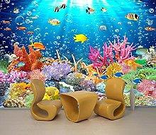 3d tridimensionale fondale marino delfini del