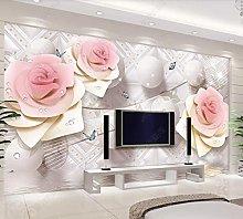 3D tridimensionale rosa fiore palla europea sala