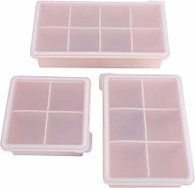 3Pcs Silicone Ice Trays Stampo Silicone Stampo Ice