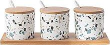 3PCS. Vaso in ceramica olio salato vaso di