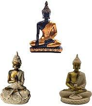 3pz Buddha Miniatura Meditazione Statua Resina