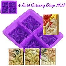 4 barre per scolpire sapone in silicone solido