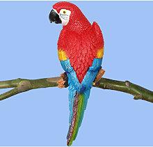 4 colori realistici resina uccello pappagallo