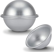 4 Pezzi 8 cm Mezza Palla Tortiera in Alluminio