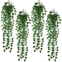 4 pezzi * 90 cm edera rampicante verde artificiale