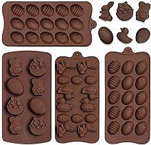 4 pezzi di stampo in silicone per cioccolatini,