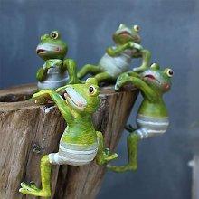 4 pezzi di statue da giardino di rana, decorazioni