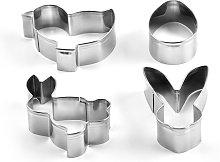 4 pezzi in acciaio inox mini stampi per dolci