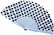 4 pezzi in tessuto a forma di fan per matrimonio,